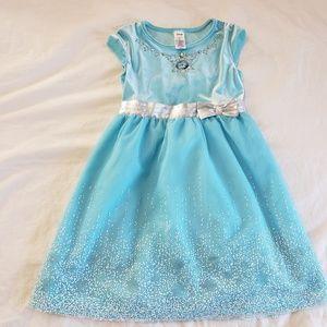 *SOLD* Disney Jumping Beans Girls Elsa Dress Blue